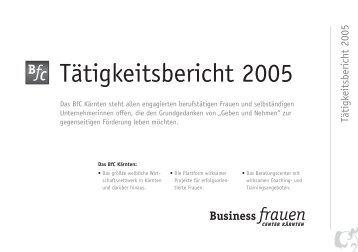 Tätigkeitsbericht 2005 - Business frauen Center Kärnten