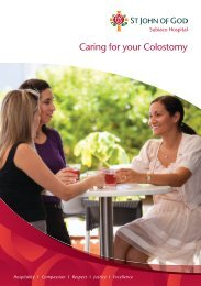 Caring for your Colostomy - St John of God Health Care
