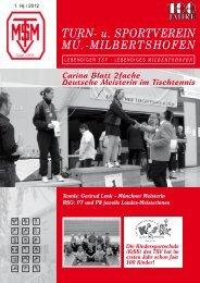 TURN- u. SPORTVEREIN MÜ.-MILBERTSHOFEN - TSV-Milbertshofen