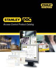 Access Control Product Catalog - Stanley PAC