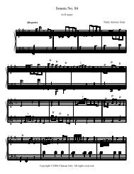 Sonata No. 86 in D major - Chateau Gris Home Page