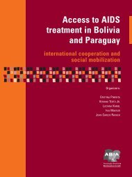 Access to AIDS treatment in Bolivia and Paraguay - Abia
