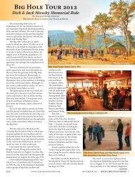 Big Hole Tour 2012 - Rocky Mountain Rider Magazine