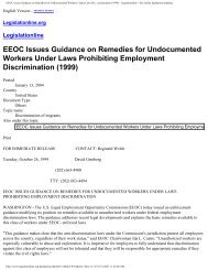 EEOC Issues Guidance on Remedies for Undocumented Workers ...