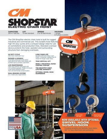 ShopStar electric chain hoist