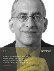 Amdocs Bill Formatter helps us reduce overall billing costs ...