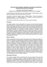 avaliação fisico-quimica e sensorial dos queijos de ... - SOVERGS