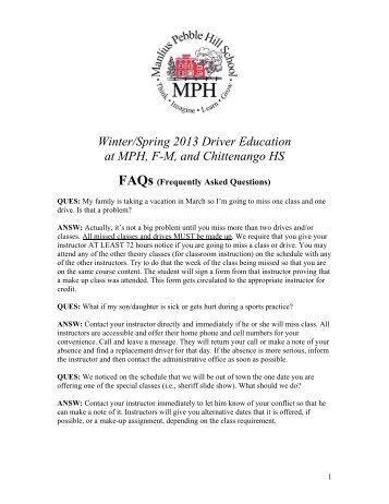 Driver Ed FAQs