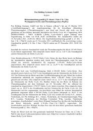 Pon Holding Germany GmbH Kerpen Bekanntmachung gemäß § 23 ...