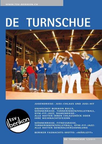 DE TURNSCHUE 1/2011 WWW.TSV-BERIKON.CH JUGENDRIEGE ...