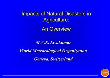 Impacts of Natural Disasters in Agriculture - The World ...