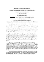 PRINCIPLES OF MICROECONOMICS Economics ... - James V. Koch