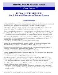 DNA Evidence Part III - National Juvenile Defender Center