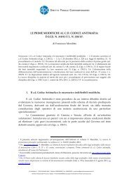 le prime modifiche al cd codice antimafia - Diritto Penale ...