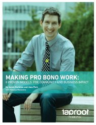 Making Pro Bono Work: 8 Proven Models for - Taproot Foundation