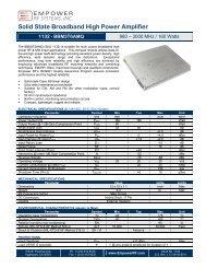Solid State Broadband High Power Amplifier - Richardson RFPD