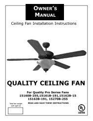 QUALITY CEILING FAN - Home Depot