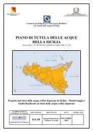 PIANO DI TUTELA DELLE ACQUE DELLA SICILIA - Osservatorio ...