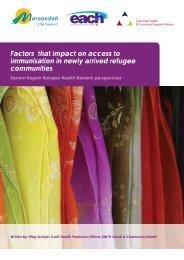 Refugee Immunisation Discussion Paper.pdf - EACH
