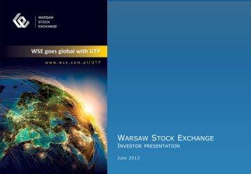 Investor presentation - June 2013 - GPW