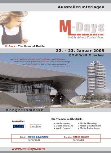 Ausstellerunterlagen 22. - 23. Januar 2009 - Mobile Zeitgeist