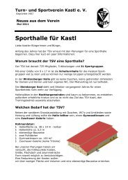 Turn- und Sportverein Kastl e. V. - TSV Kastl