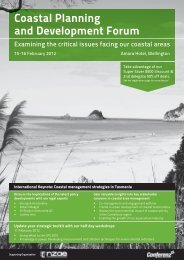 Coastal Planning and Development Forum - Conferenz