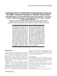 Association study of CCR5 delta 32 polymorphism among the HLA ...