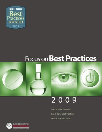 Compendium from the Bio•IT World Best Practices Awards Program ...