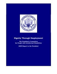 Dignity Through Employment - Administration for Children and ...