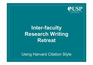 Referencing - Interfaculty Research Writing Retreat [Compatibility ...