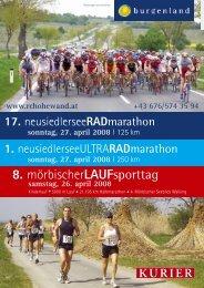 17. neusiedlerseeRADmarathon sonntag, 27. april 2008 - stone-rich ...