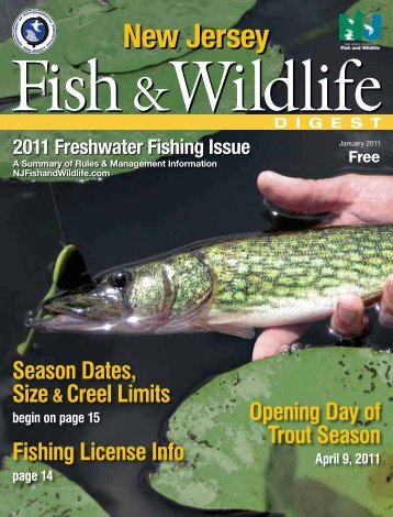 2011 Freshwater Fishing Issue - State of New Jersey