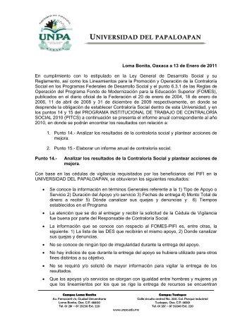 Informes - UNPA
