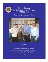 City of Chelsea Capital Improvement Program ... - Chelsea City Hall