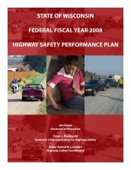 State of Wisconsin Highway Safety Performance Plan