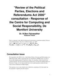 Review of the Political Parties, Elections and Referendums Act 2000