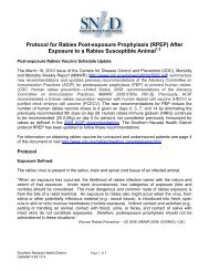Protocol for Rabies Post-exposure Prophylaxis (RPEP) After