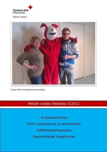 Nilsiän osasto tiedottaa 3/2012 Nilsiän osasto tiedottaa 3 ... - RedNet