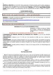 Portaria Adicional de Qualificação - Tribunal Regional do Trabalho ...