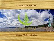 Capital Expenditure Program - Conifex Timber Inc.