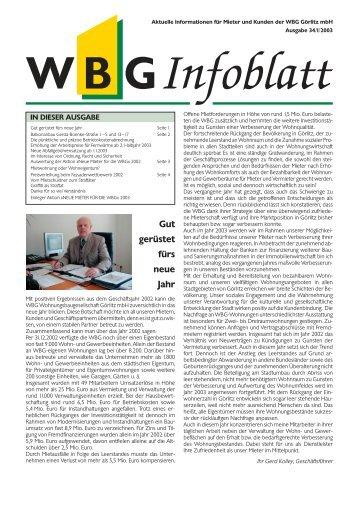 Gut gerüstet fürs neue Jahr - WBG Wohnungsbaugesellschaft Görlitz ...