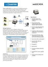 webSCADA - Sauter Automation AB