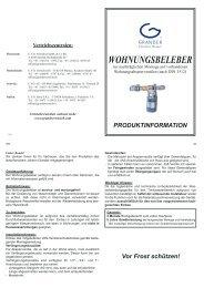 Wohnungsbeleber - GRANDER Wasserbelebung Schweiz