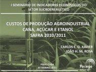 custos de produção agroindustrial cana, açúcar e ... - Canal Rural