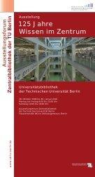 Chronologie Bibliotheksgeschichte - TU Berlin
