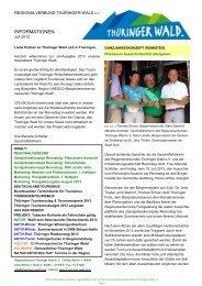 Newsletter des Regionalverbundes - Ausgabe 7 ... - Thüringer Wald