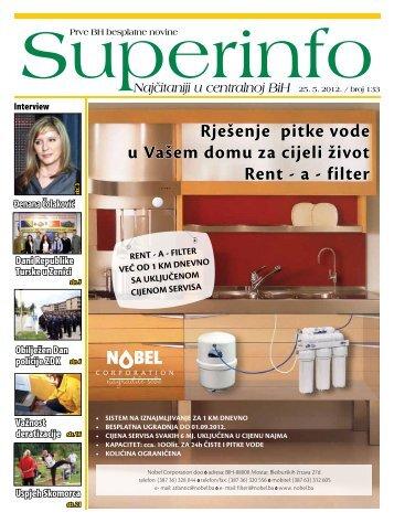 Rješenje pitke vode u Vašem domu za cijeli život Rent ... - Superinfo