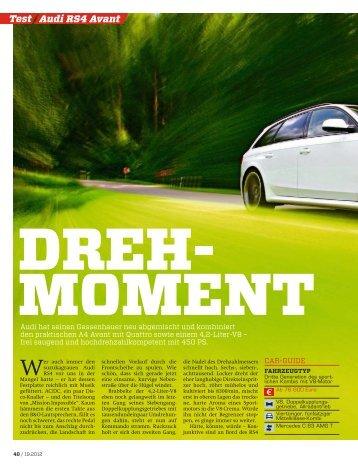 Audi RS4 Avant Test