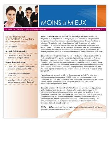 Volume 7, numéro 3 – Octobre 2011 - Finances